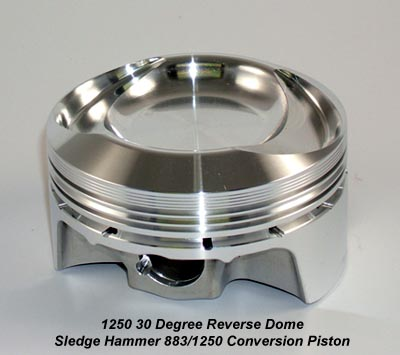 30 degree reverse dome 883 to 1250 conversion piston