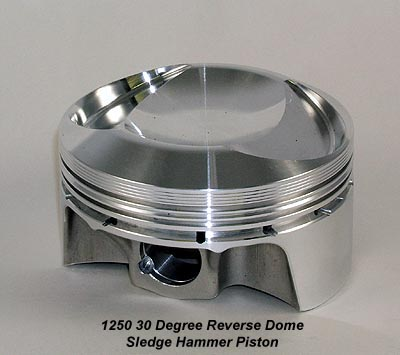 Lightweight High Performance 1250cc 30 Degree Reverse Dome Forged Piston for Harley Davidsons and Buells