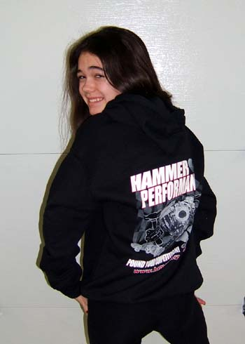 Hammer Performance Three Coor Hoodie Back