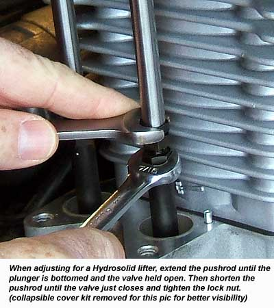 Adjusting a pushrod for a Hydrosolid lifter on a Harley Davidson