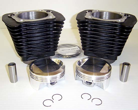 Black 1250 Kit for High Performance Harley Davidson XL Sportster or Buell