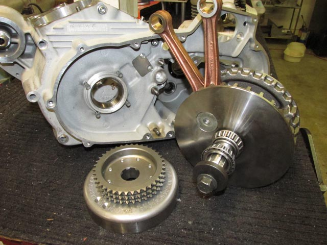 Buell XB and Harley Davidson XR1200 Sportster Flywheel Crankshaft Assembly retrofitted to 1991-2003 Sportster