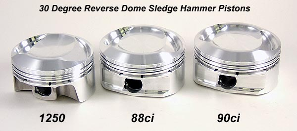 30 Degree Reverse Dome Pistons for Harley Davidson XL Sportster Models
