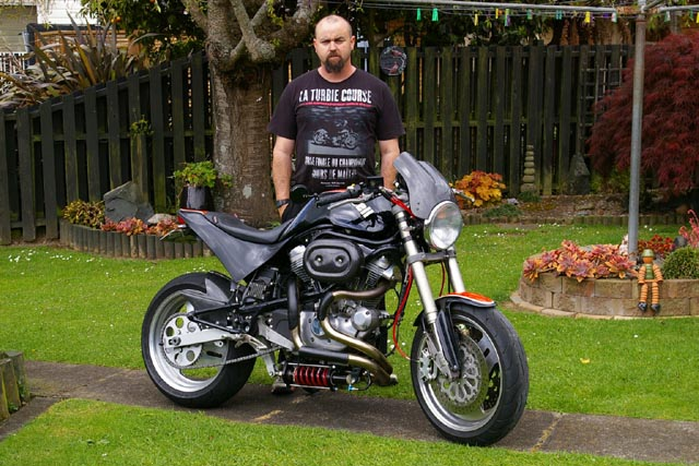 Shane George on his Buell S1