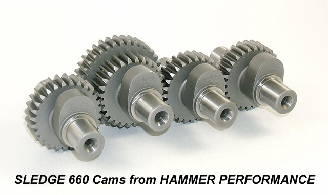 HAMMER PERFORMANCE Sledge 660 camshafts for 1991-present Harley Davidson Sportsters