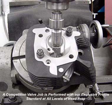Performing a Competition High Performance Valve Job on Harley Davidson Twin Cam Cylinder Head